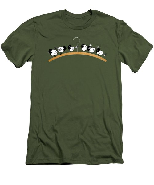Chickadees Men's T-Shirt (Slim Fit) by Matt Mawson