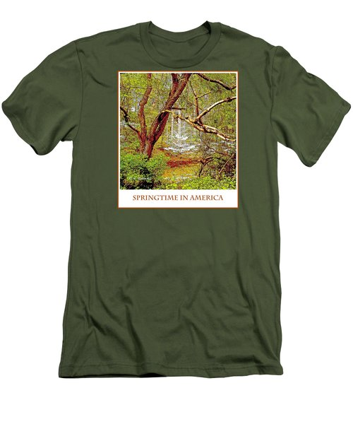 Men's T-Shirt (Slim Fit) featuring the photograph Dogwood Tree In Spring by A Gurmankin