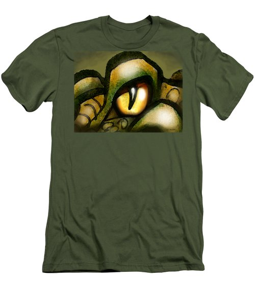Dragon Eye Men's T-Shirt (Slim Fit) by Kevin Middleton
