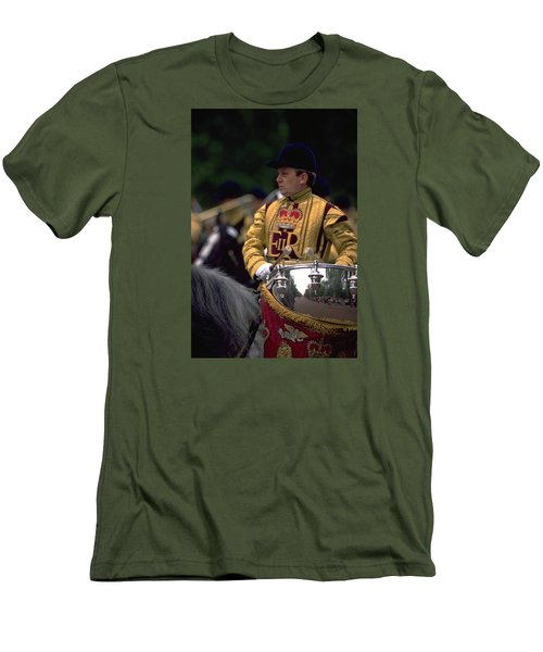 Men's T-Shirt (Slim Fit) featuring the photograph Drum Horse At Trooping The Colour by Travel Pics