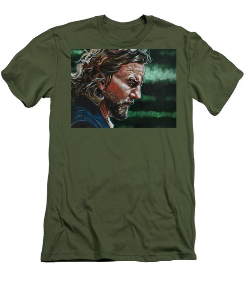 Eddie Vedder Men's T-Shirt (Slim Fit) by Joel Tesch