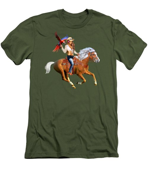 Enchanted Jungle Rider Men's T-Shirt (Slim Fit) by Glenn Holbrook