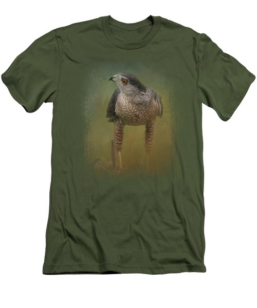 Evening Hawk Men's T-Shirt (Slim Fit) by Jai Johnson