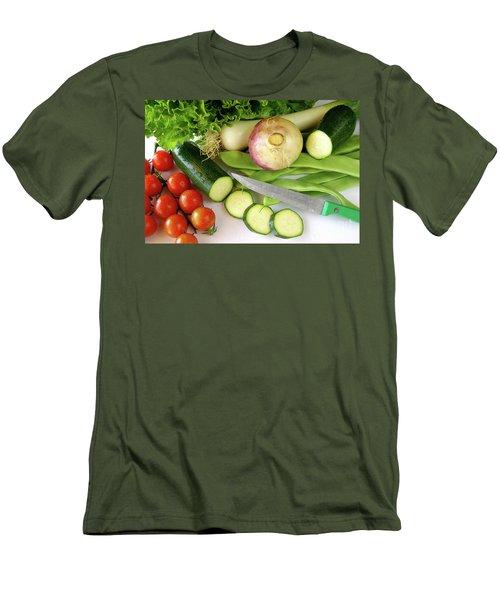 Fresh Vegetables Men's T-Shirt (Slim Fit) by Carlos Caetano