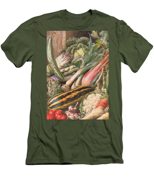 Garden Vegetables Men's T-Shirt (Slim Fit) by Louis Fairfax Muckley