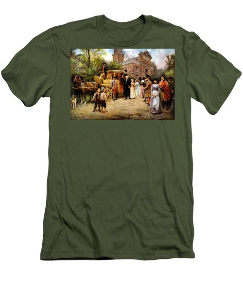 George Washington Arriving At Christ Church Men's T-Shirt (Slim Fit) by War Is Hell Store