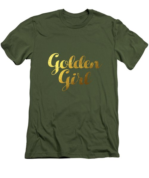Golden Girl Typography Men's T-Shirt (Slim Fit) by Bekare Creative