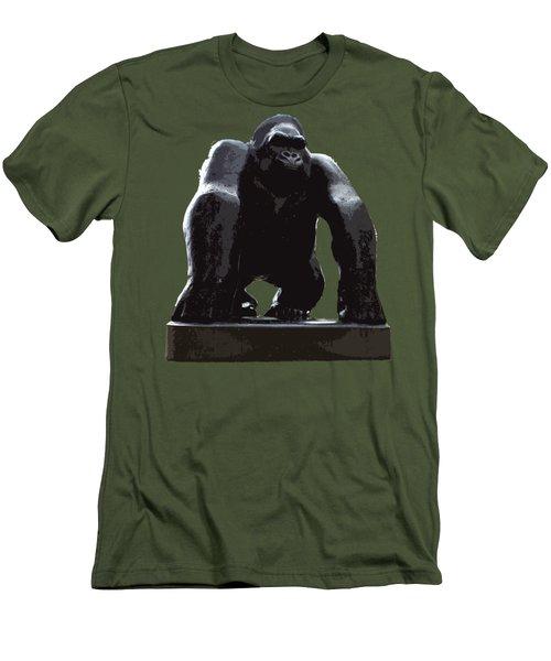 Gorilla Art Men's T-Shirt (Slim Fit) by Francesca Mackenney