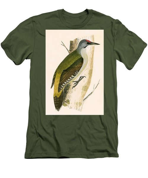 Grey Woodpecker Men's T-Shirt (Slim Fit) by English School