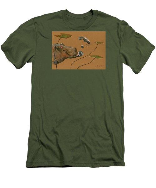 Hippo Bubbles Men's T-Shirt (Slim Fit) by Juan  Bosco