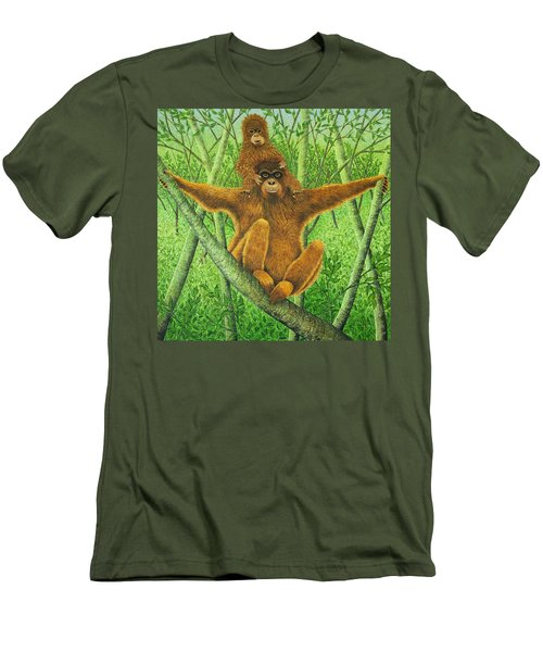 Hnag On In There Men's T-Shirt (Slim Fit) by Pat Scott