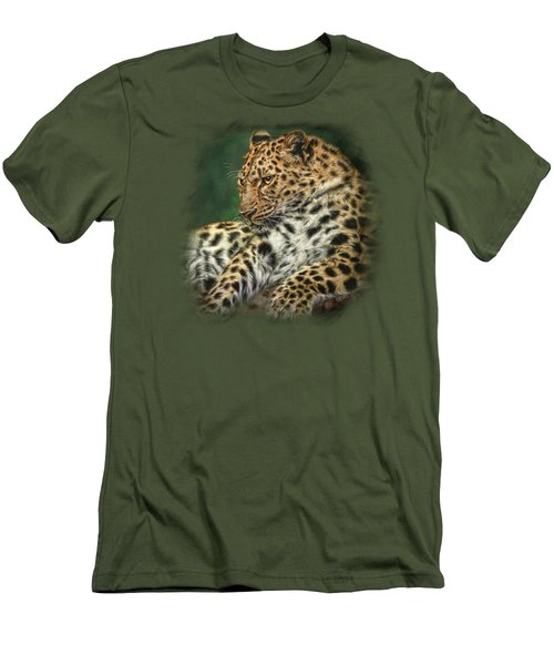 I'm Watching Men's T-Shirt (Slim Fit) by Sandy Oman