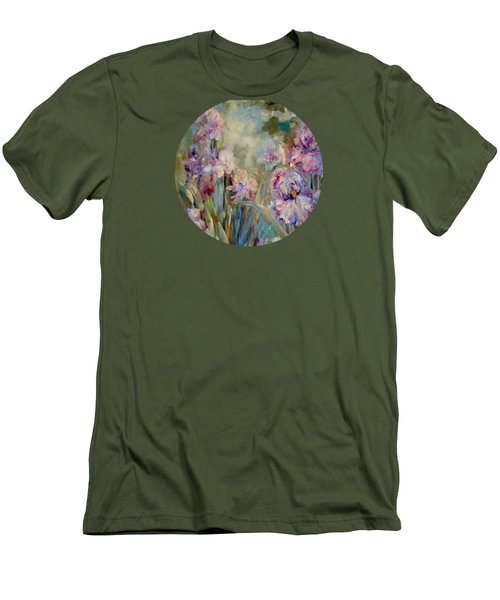 Iris Garden Men's T-Shirt (Slim Fit) by Mary Wolf
