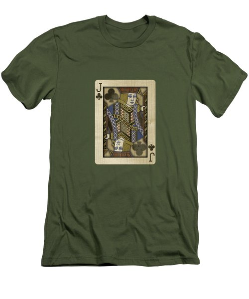 Jack Of Clubs In Wood Men's T-Shirt (Slim Fit) by YoPedro