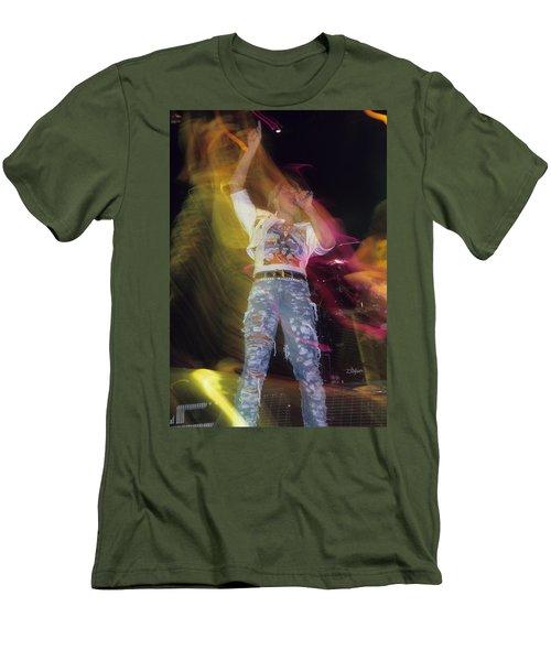 Joe Elliott Men's T-Shirt (Slim Fit) by Rich Fuscia