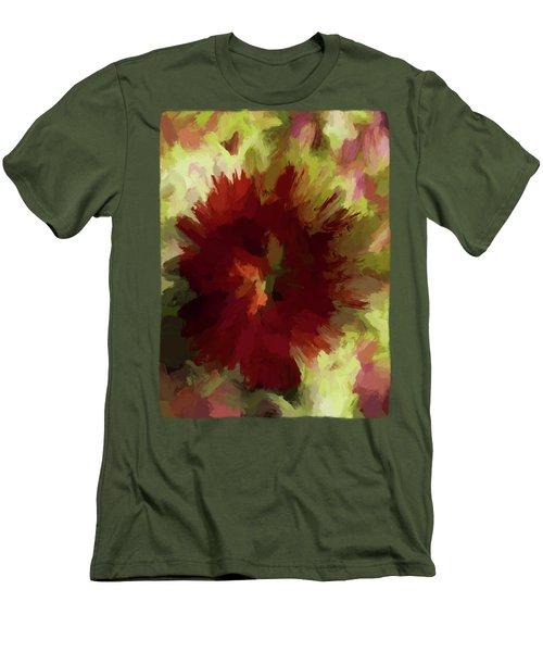 Maroon Flower 4 Men's T-Shirt (Slim Fit) by Jackie VanO