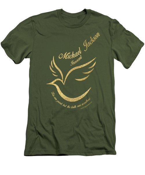 Michael Jackson Golden Dove Men's T-Shirt (Slim Fit) by D Francis