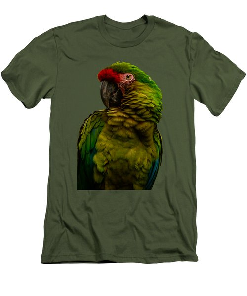 Military Macaw Men's T-Shirt (Slim Fit) by Zina Stromberg