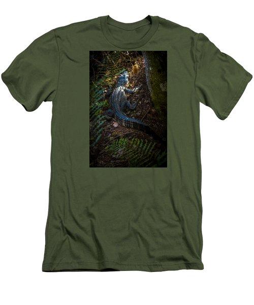 Mr Alley Gator Men's T-Shirt (Slim Fit) by Marvin Spates