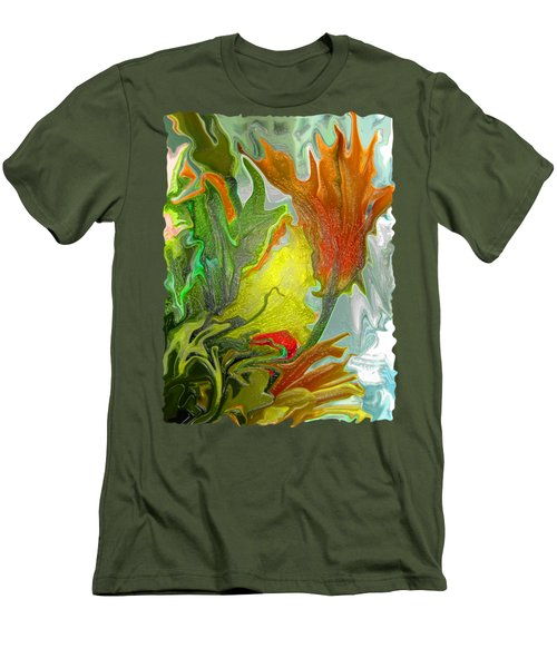 Orange Tulip Men's T-Shirt (Slim Fit) by Kathy Moll
