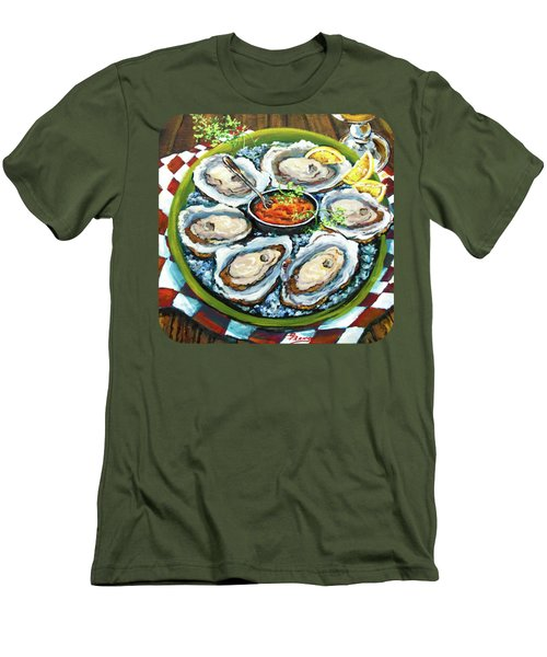 Oysters On The Half Shell Men's T-Shirt (Slim Fit) by Dianne Parks