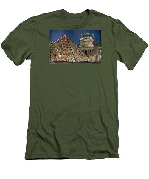 Paris Louvre Men's T-Shirt (Slim Fit) by Juli Scalzi