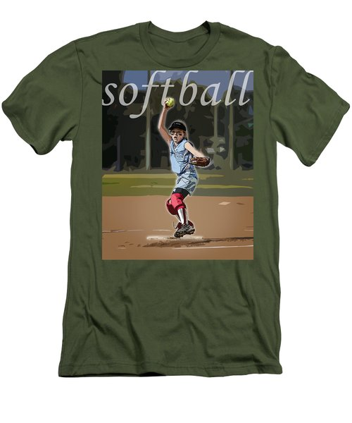 Pitcher Men's T-Shirt (Slim Fit) by Kelley King