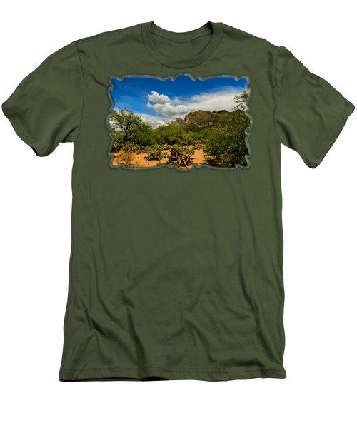 Pusch Ridge Vista H14 Men's T-Shirt (Slim Fit) by Mark Myhaver