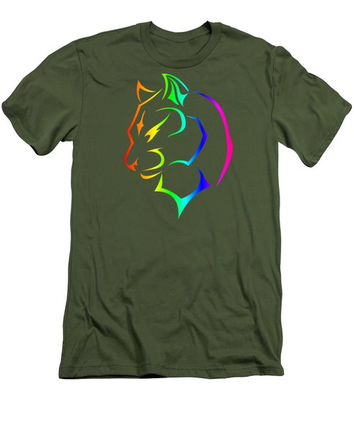 Rainbow Panther Men's T-Shirt (Slim Fit) by Frederick Holiday