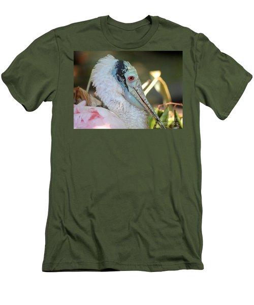 Roseate Spoonbill Profile Men's T-Shirt (Slim Fit) by Carol Groenen