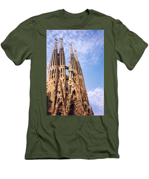 Sagrada Familia Men's T-Shirt (Slim Fit) by Sandy Taylor