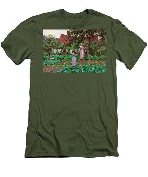 September Men's T-Shirt (Slim Fit) by Edmund Blair Leighton