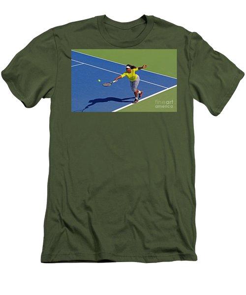 Serena Williams 1 Men's T-Shirt (Slim Fit) by Nishanth Gopinathan