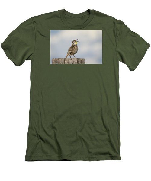 Singing A Song Men's T-Shirt (Slim Fit) by Thomas Young