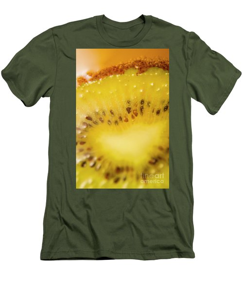 Sliced Kiwi Fruit Floating In Carbonated Beverage Men's T-Shirt (Slim Fit) by Jorgo Photography - Wall Art Gallery