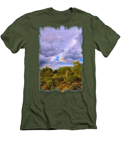Sonoran Desert V13 Men's T-Shirt (Slim Fit) by Mark Myhaver