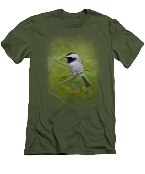 Spring Chickadee Men's T-Shirt (Slim Fit) by Jai Johnson