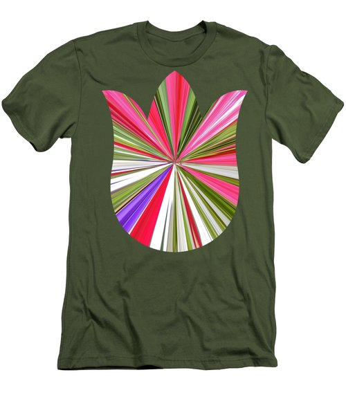 Striped Tulip Men's T-Shirt (Slim Fit) by Marian Bell