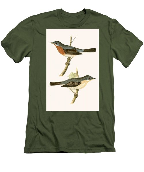 Sub Alpine Warbler Men's T-Shirt (Slim Fit) by English School