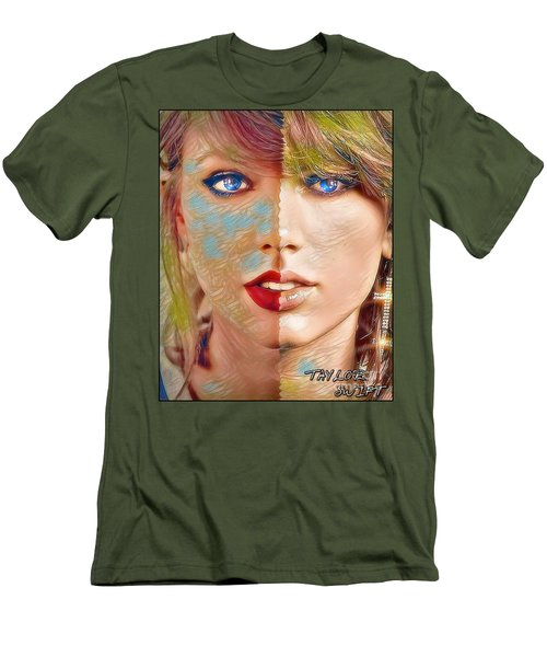 Taylor Swift - Blended Perfection Men's T-Shirt (Slim Fit) by Robert Radmore