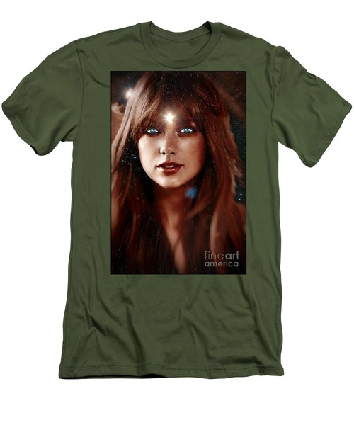 Taylor Swift - Goddess Men's T-Shirt (Slim Fit) by Robert Radmore