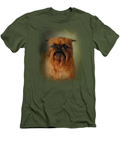 The Brussels Griffon Men's T-Shirt (Slim Fit) by Jai Johnson