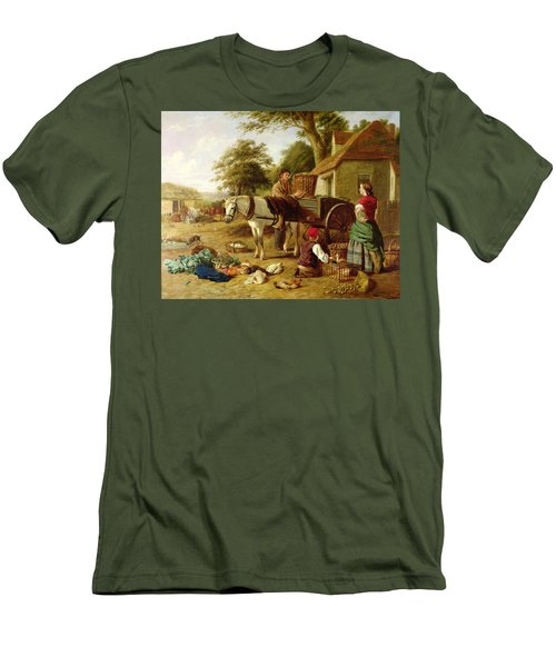The Market Cart Men's T-Shirt (Slim Fit) by Henry Charles Bryant