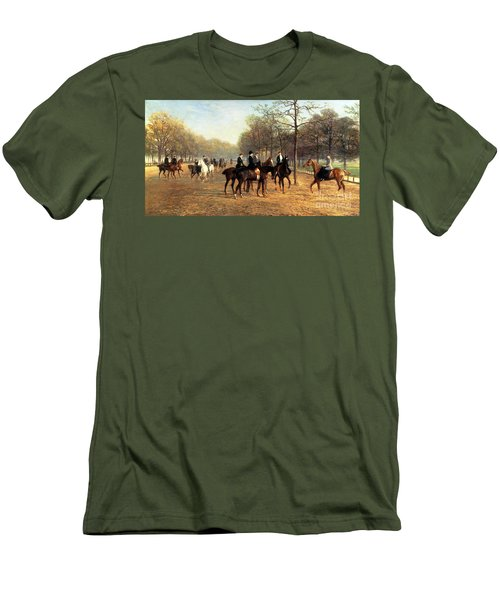 The Morning Ride Rotten Row Hyde Park Men's T-Shirt (Slim Fit) by Heywood Hardy