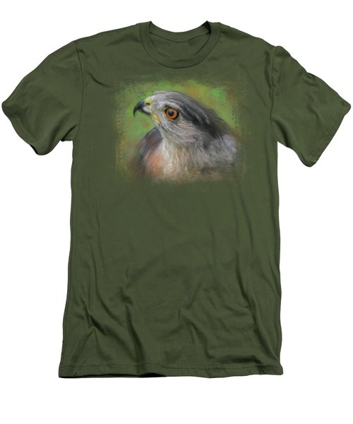 The Sharp Shinned Hawk Men's T-Shirt (Slim Fit) by Jai Johnson