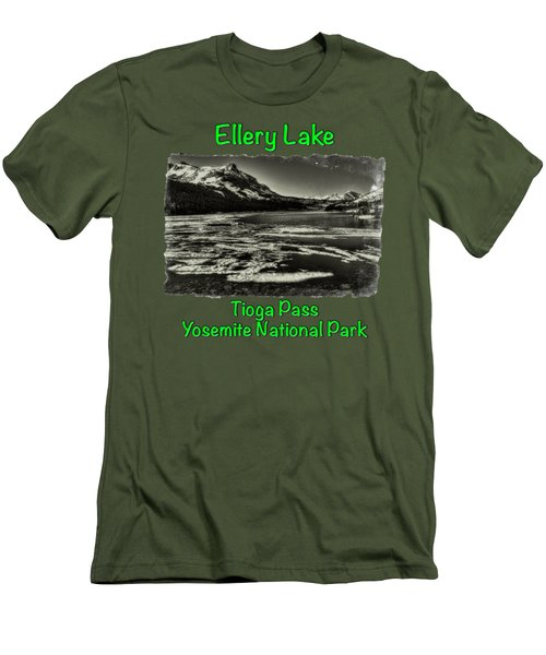 Tioga Pass Lake Ellery Early Summer Men's T-Shirt (Slim Fit) by Roger Passman