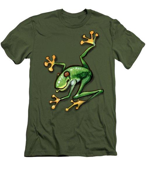 Tree Frog Men's T-Shirt (Slim Fit) by Kevin Middleton