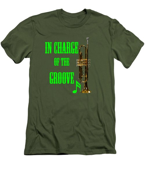 Trumpets In Charge Of The Groove 5535.02 Men's T-Shirt (Slim Fit) by M K  Miller