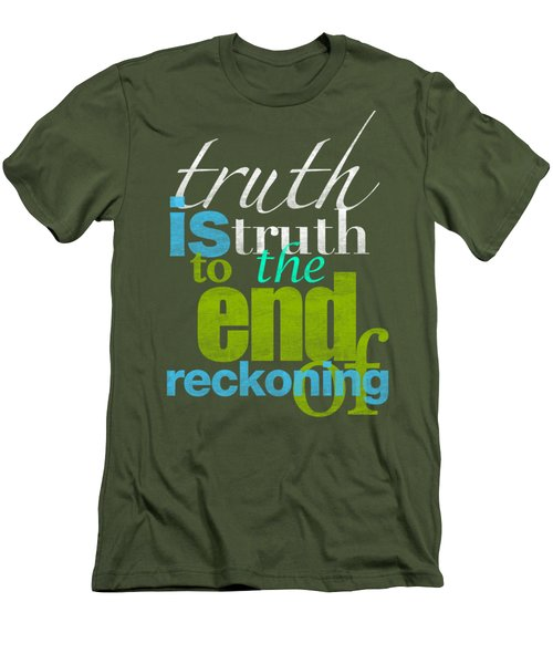 Michael Jackson Truth Is Truth Men's T-Shirt (Slim Fit) by D Francis