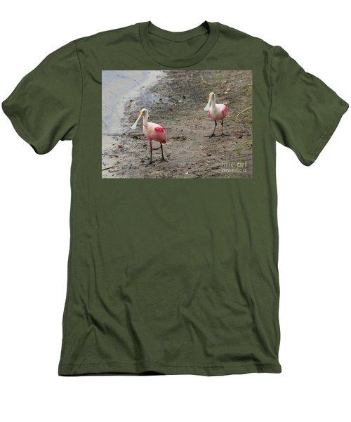 Two Roseate Spoonbills 2 Men's T-Shirt (Slim Fit) by Carol Groenen
